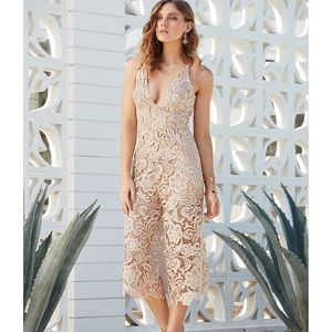 Dress the Population Marion Scallop Lace Jumpsuit